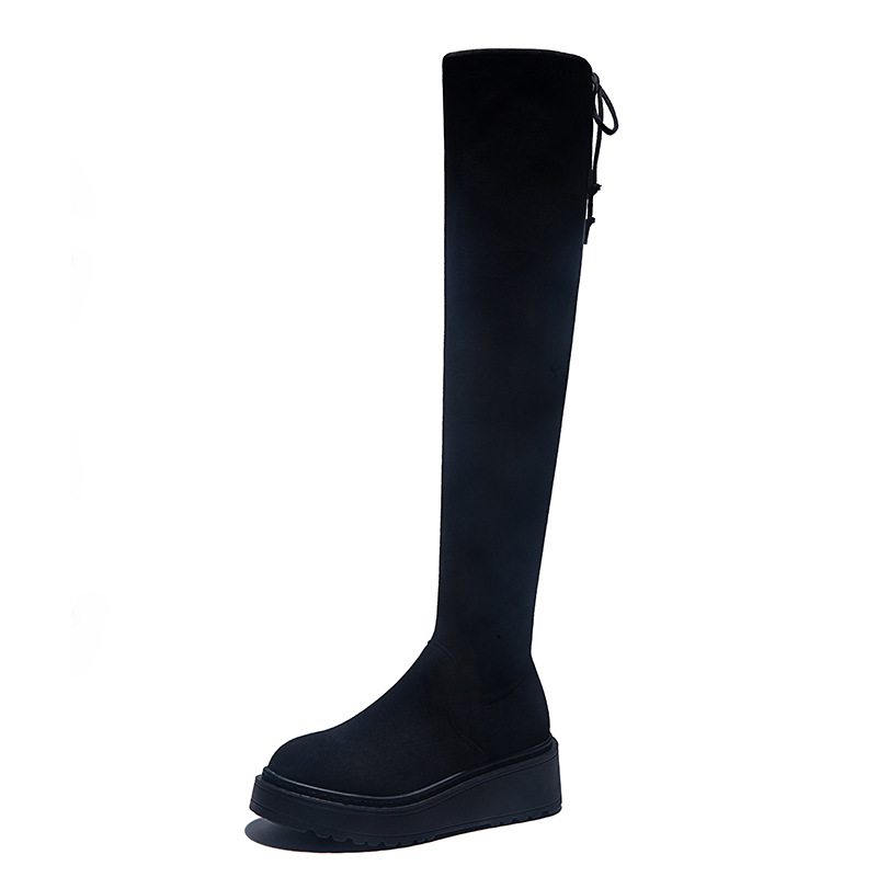 ORVAB 2019 New Shoes Women Boots Black Over The Knee Boots Sexy Female Autumn Winter Lady Thigh High Long Boots