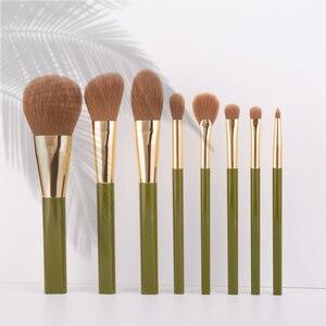 Image 1 - ANMOR 8Pcs Traveling Makeup Brushes Set Powder Blush Eye Shadow Blending Eyeshadow Make Up Brush Top Quality Pincel Maquiagem