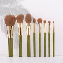 Anmor 8 pçs viagem pincéis de maquiagem conjunto pó blush sombra de olho mistura sombra maquiagem pincel qualidade superior