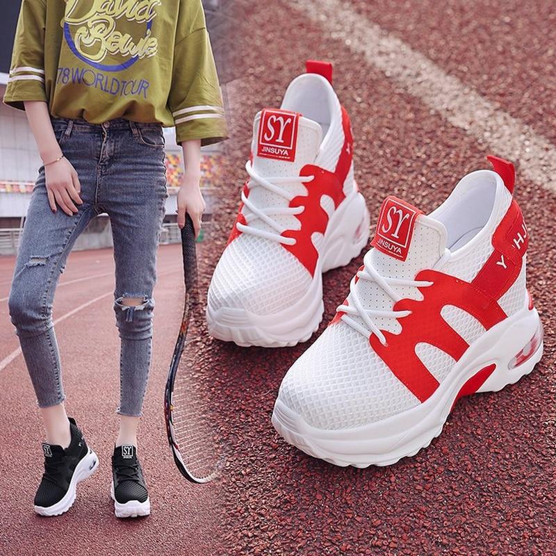 Basket Femme/2019; женская повседневная обувь высокого качества; дышащие кроссовки из дышащего сетчатого материала; Женская Вулканизированная обувь; износостойкие кроссовки