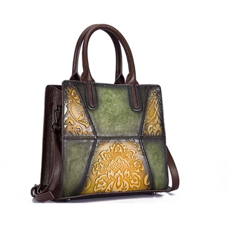 Pyaterochka Berühmte Marke 2019 Trend Handtasche Frauen Aus Echtem Leder Luxus Casual Schulter Taschen Hohe Qualität Günstige Hand Tasche - 4