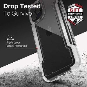 Image 2 - Защитный прозрачный чехол X Doria для телефона iPhone 11 Pro Max, чехол в стиле милитари для iPhone 12Pro, защитный петух