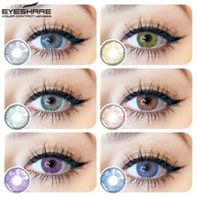 EYESHARE-1 par (2 uds) de lentes de Color de cristal Natural, para cosméticos para ojos, lentillas de contacto