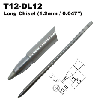 T12-DL12 Long Screwdriver 1.2mm Soldering Tip for HAKKO FX-951 FX-950 FX-952 FX-9501 FM-2028 FM2027 Pencil Iron Bit Replacement image