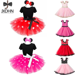 Fancy Kids Dresses for Girls Birthday Easter Cosplay Minnie Mouse Dress Up Kid Costume Baby Girls Clothing For Kids 2 6T Wear(China)