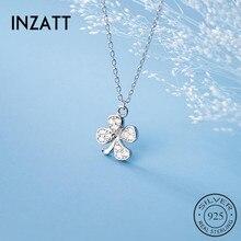 Choker Necklace Clover Accessories Zircon Fine-Jewelry 925-Sterling-Silver Fashion Women