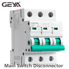 3Phase Main Switch 63A 100A 125A Isolating switch for Home or Industrial Use Circuit Breaker 400V GEYA GYH8