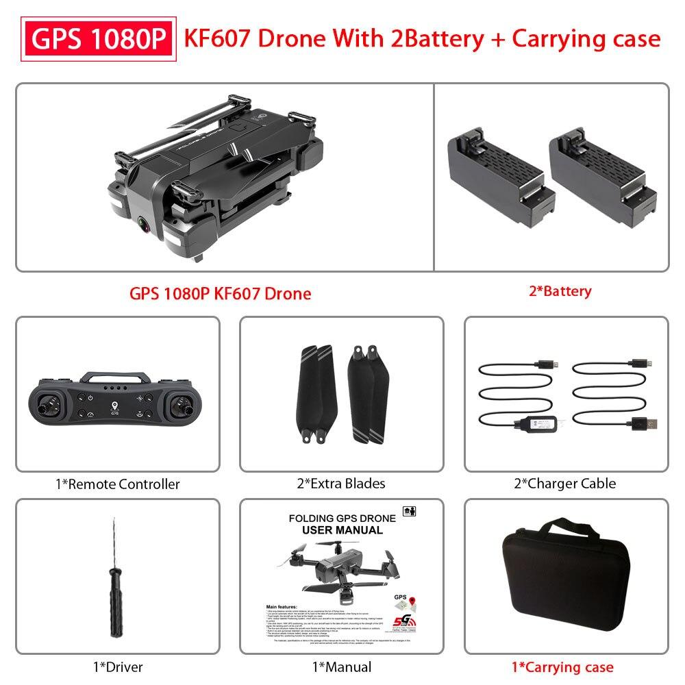 Newest KF607 GPS Quadcopter with Wifi FPV 1080P 4K HD Dual Camera Optical Flow Selfie Drone Foldable Mini Dron VS SG907 XS816