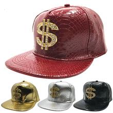 Mężczyźni czapki czapka z płaskim daszkiem czapka z daszkiem Hip Hop czaszka nit czapka z daszkiem czapka z daszkiem taniec uliczny czapka modny męskie i damskie czapka z płaskim daszkiem tanie tanio CN (pochodzenie) Hip Hop Czapki Adjustable Stałe Faux leather
