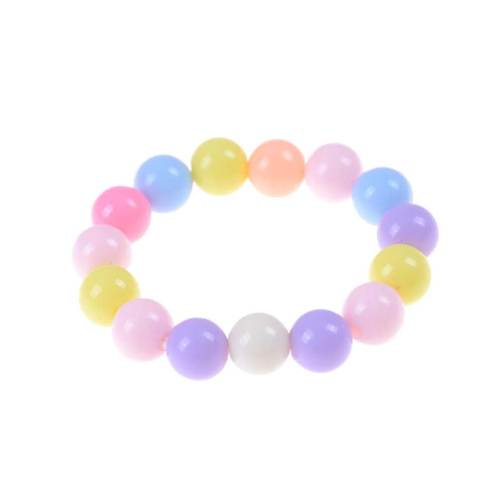 Jettingbuy doce cor grânulos pulseiras design simples acrílico artesanal diy moda jóias pulseira feminina presentes