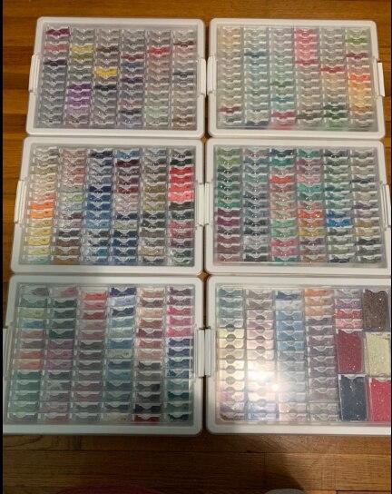 Nouvelles Solutions de stockage de perles de Style organisateur de conteneur minuscule avec 78 petits conteneurs plateau et couvercle pour perles et peinture au diamant
