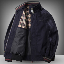 High Quality Jacket Men'S 96% Cotton Spring Autumn Loose Large Size Jacket Middle Aged Men'S Casual  Wear Winter Clothes