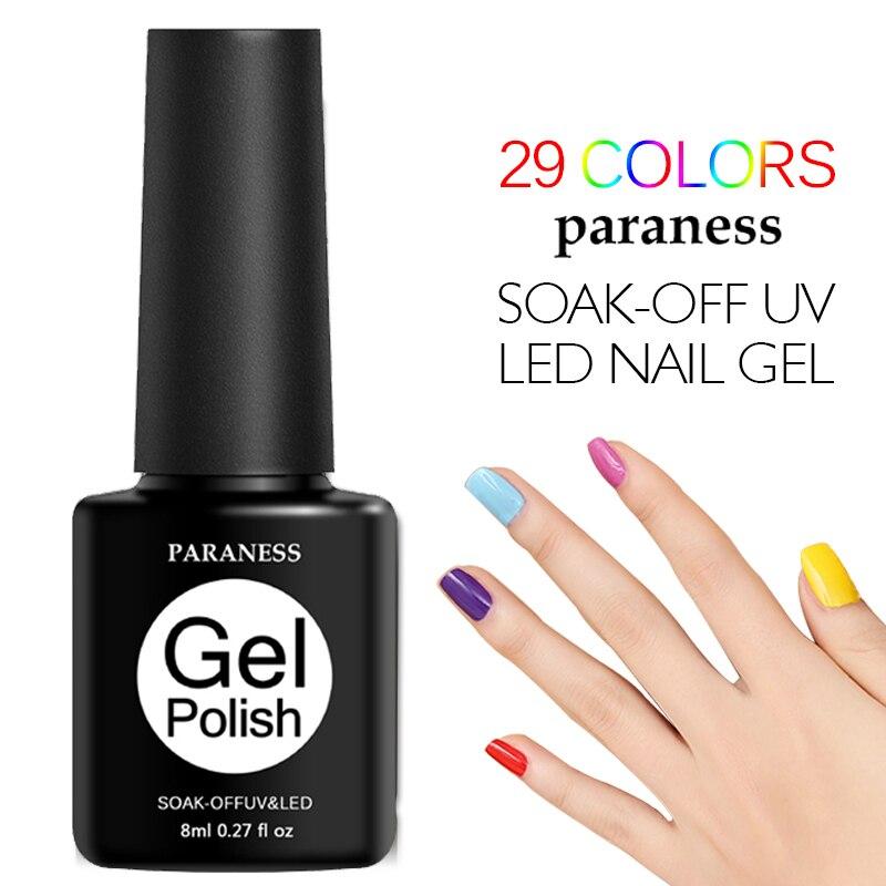 Paraness Gel brillo de barniz UV Esmalte Gel Esmalte de uñas estampado pintura uñas arte gelpolaco pegamento laca todo para manicura