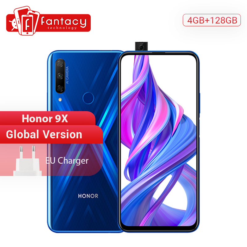 In Stock Global Version Honor 9X 4GB 128GB 48MP Triples Camera Smartphone 6.59'' Screen Mobile Phone Android 9 Google Play OTA Pakistan