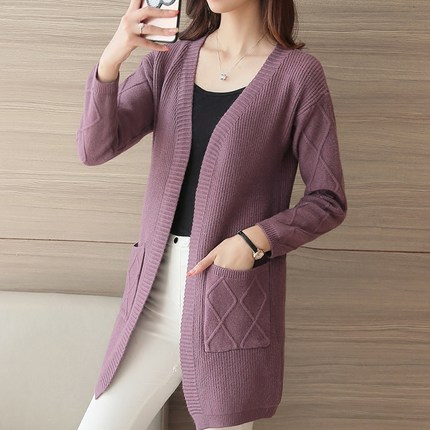 Spring Women Fashion Cardigan Sweaters  1