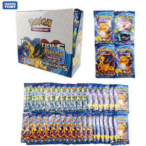 324pcs Pokemon cards Sun & Moon XY Evolutions Booster Box Collectible Trading Cards Game Child gift