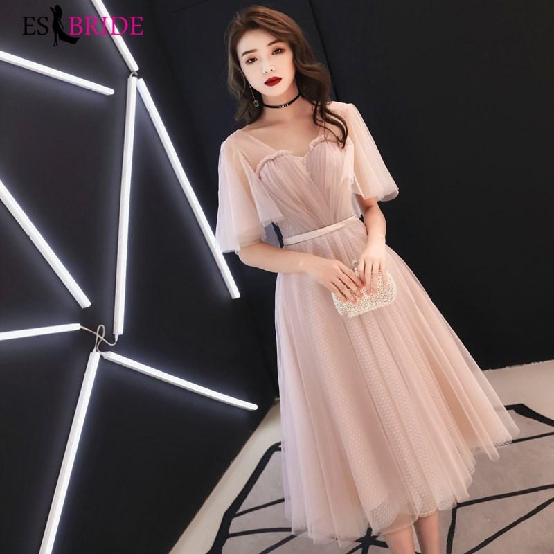 Elegant Sweetheart Evening Dresses Long Formal Dress Women Elegant Long Evening Dress Short Skeeve Arabic Robe De Soiree ES2493