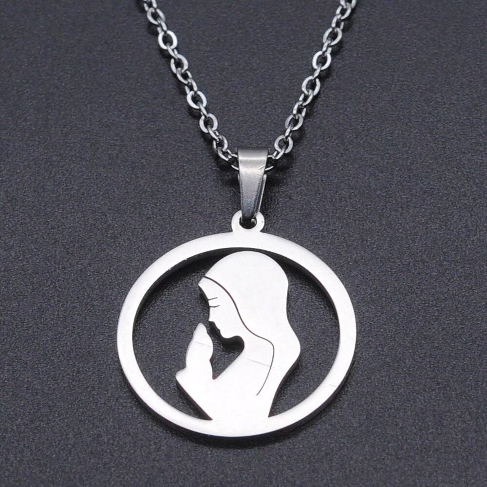 Женское Ожерелье из нержавеющей стали Virgin Mary, модное ювелирное ожерелье, оптовая продажа, изысканные стальные ожерелья, принимаем OEM заказ