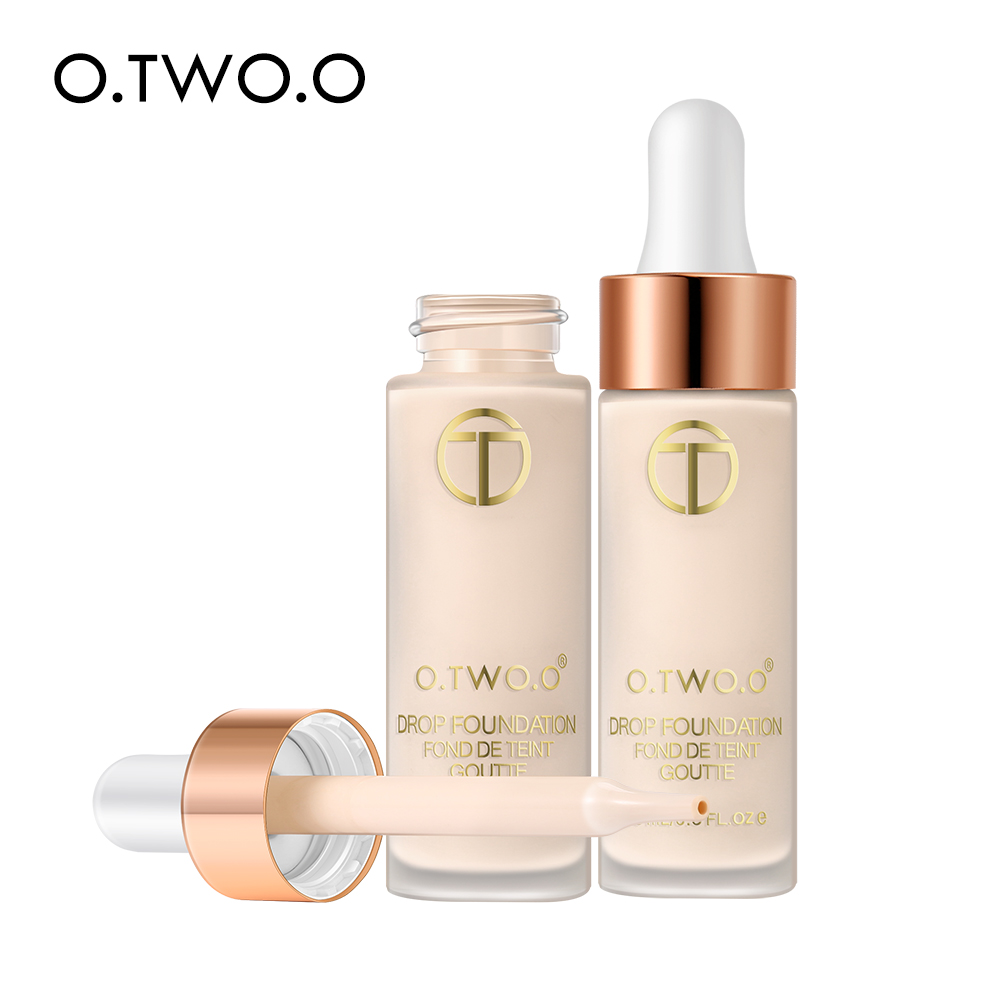 O.TWO.O Liquid Foundation Professional Makeup Base  Oil Free Full Coverage Concealer Long Lasting Liquid Foundation Cosmetics