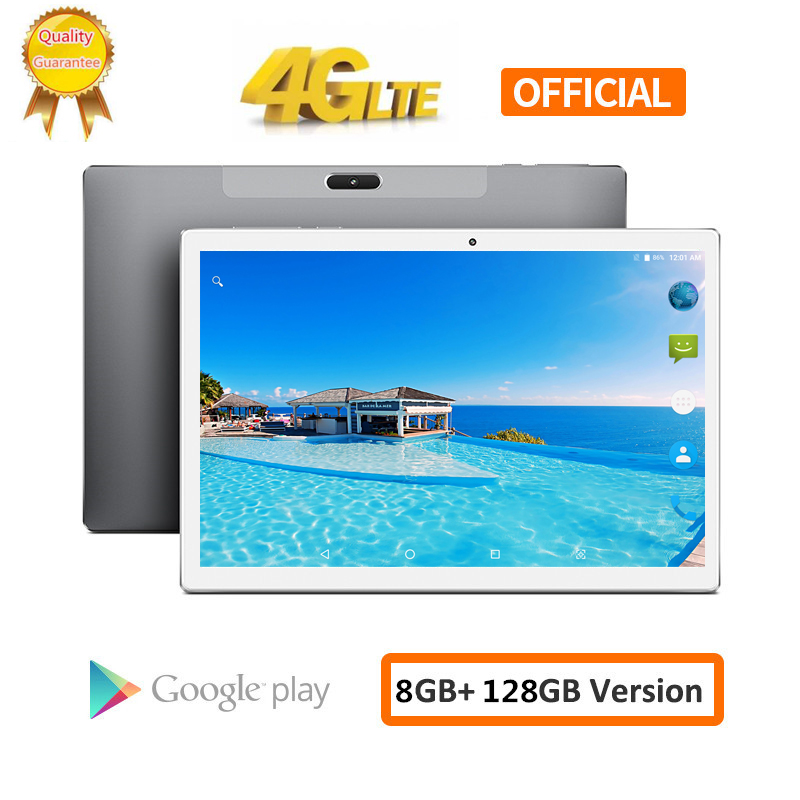 S119 10.1 Inch 2560*1600 8GB RAM 128GB ROM Android 8.0 Tablet PC MTK6797 X20L Deca 10 Core Dual 4G LTE Phone Tablets 8000mAh GPS