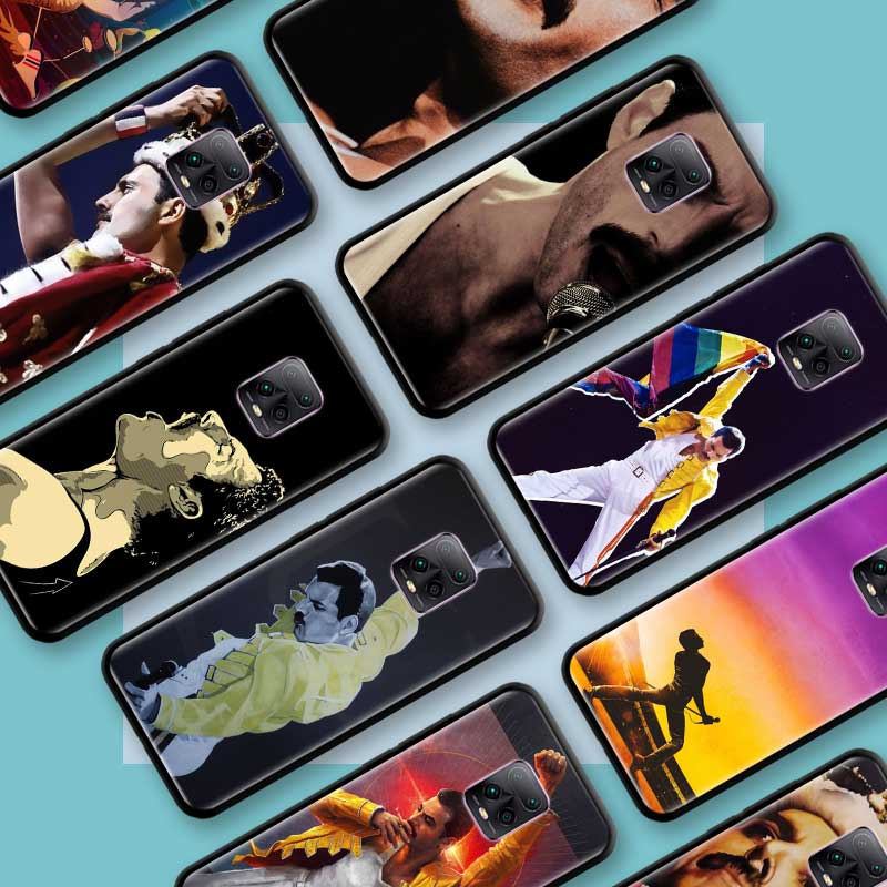 Black Tpu Capa For Xiaomi Redmi Note 8 9S 8T 9 7 10X 5G K30 Pro Zoom 7A 8A K30i Coque Phone Cases Freddie Mercury Queen Band