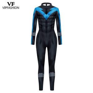 Image 2 - VIP FASHION New Cosplay Costume  Superhero Anime Zentai Suit Bodysuit Halloween Costume For Males