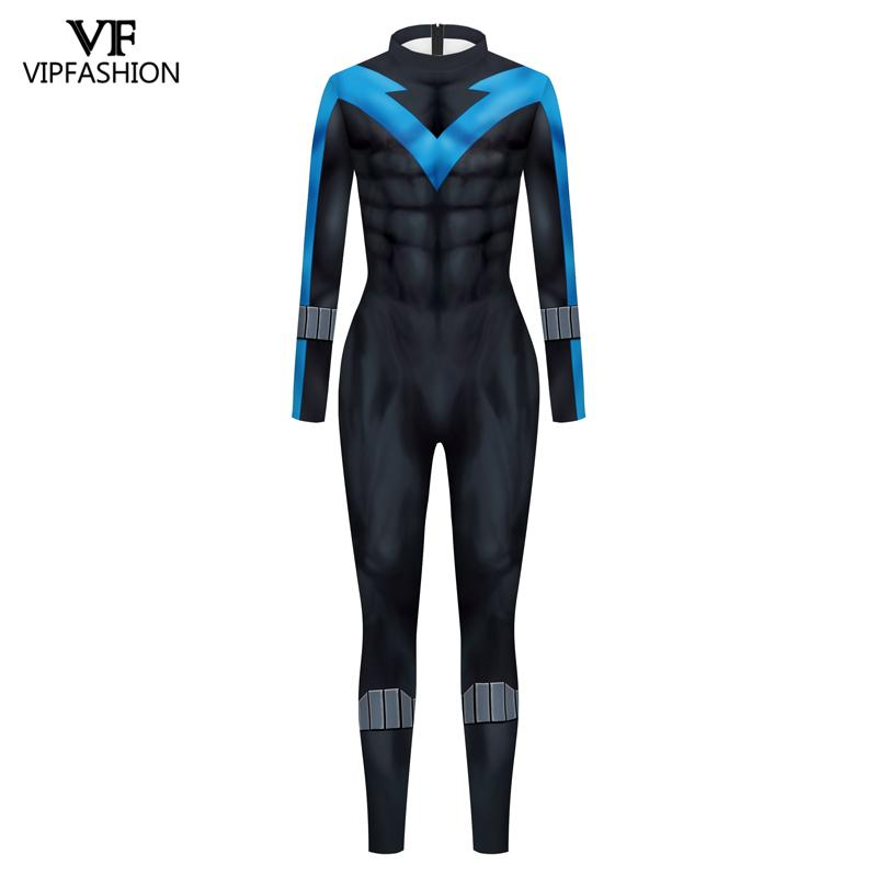 Image 3 - VIP FASHION New DC Comic Batman Nightwing Cosplay Costume  Superhero Anime Zentai Suit Bodysuit Halloween Costume For MalesMovie & TV costumes   -
