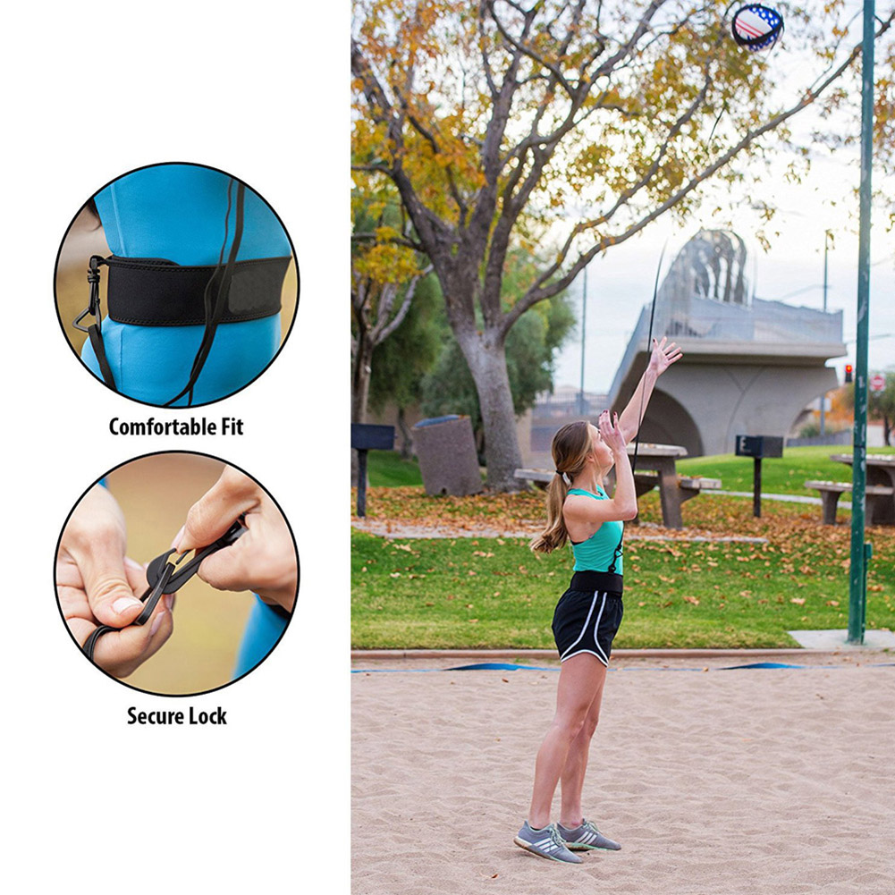 Volleyball Training Equipment Aid Great Trainer For Solo Practice Of Serving Tosses And Arm Swings Returns Training Strap