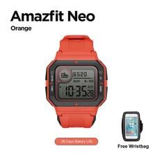 In Lager 2020 Amazfit Neo Smart Uhr Bluetooth Smartwatch 5ATM Herz Rate Tracking 28 Tage Batterie Lebensdauer Für Android IOS telefon