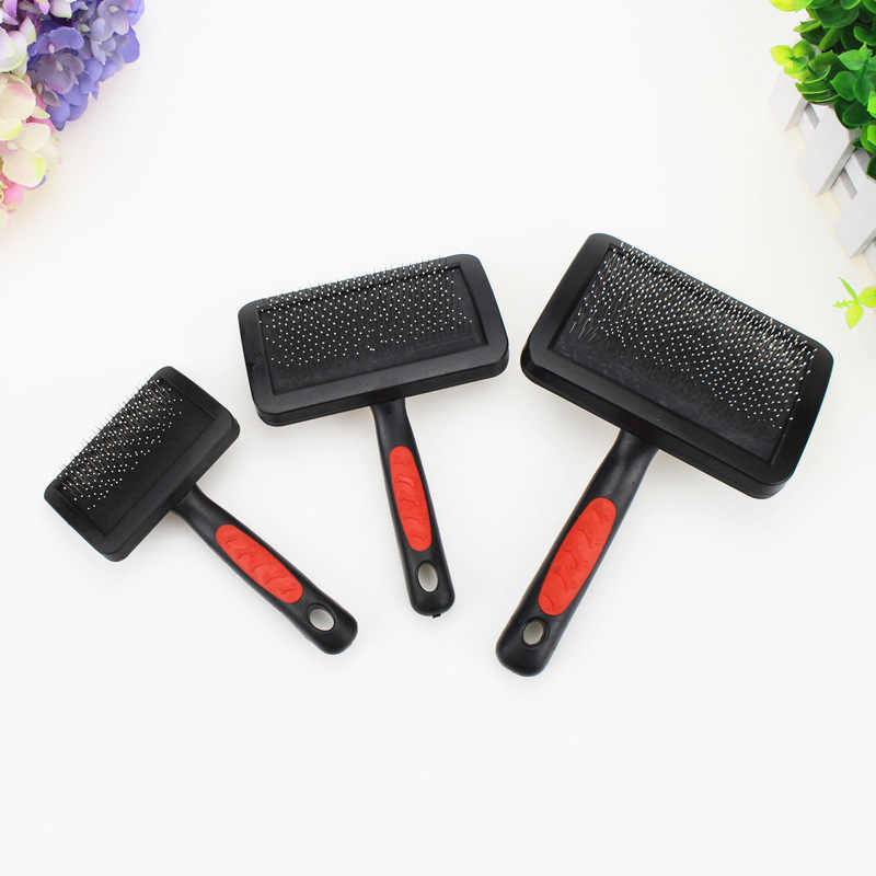 1pc Pet Grooming Needle Comb Shedding Hair Remove Brush Slicker Massage Tool Dog Cat Supplies Protective Pet Accessories DogComb
