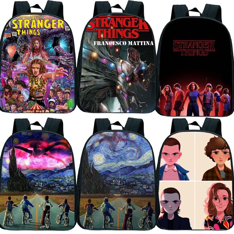 New Stranger Things Backpack Kids Small School Bags For Girls Boys Toddler Backpack Primary Kindergarten Backpack Kids Book Bag