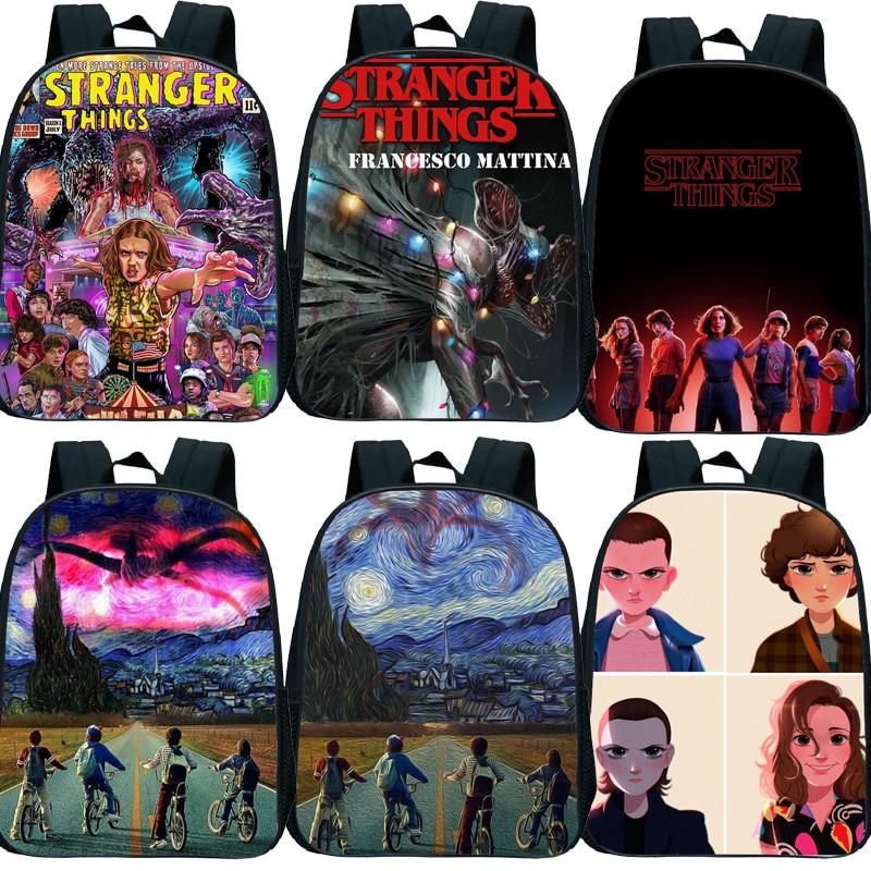 New Stranger Things Backpack Kids Small School Bags For Girls Boys Toddler Backpack Primary Kindergarten Backpack Kids Book Bag