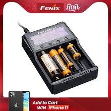2019 yeni Fenix ARE A4 dört kanallı akıllı şarj cihazı ile uyumlu türleri Li ion ve Ni MH/ni cd piller