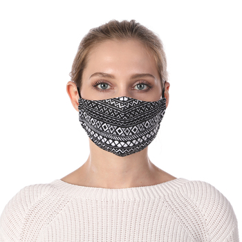 Aztec Printing Face Mask Reusable Protective PM2.5 Filter Mouth Mask Anti Dust Mask Windproof Adjustable Face Masks Face Masks