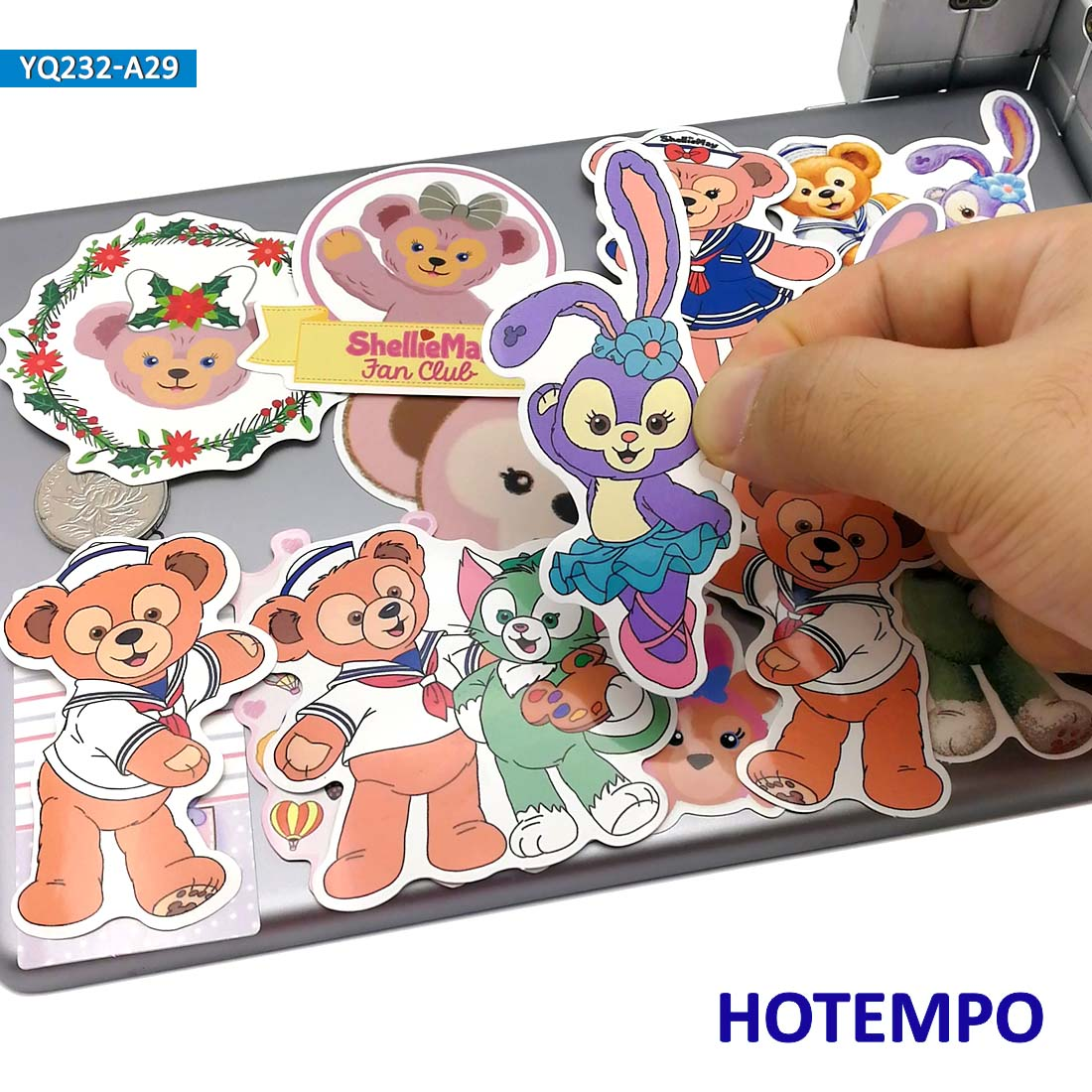 30pcs Cartoon ShellieMay Bear Duffy Stickers For Mobile Phone Laptop Luggage Guitar Case Skateboard Fixed Gear Bike Car Stickers