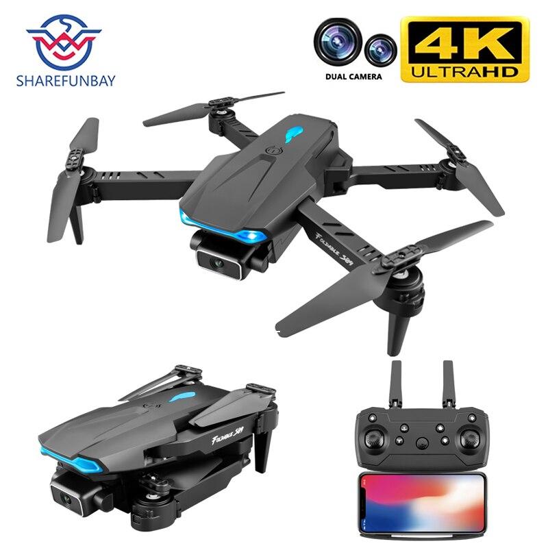 SHAREFUNBAY S89 pro Дрон 4k HD Двойная камера визуальное позиционирование 1080P WiFi Fpv Дрон сохранение высоты Rc Квадрокоптер VS V4 Дрон