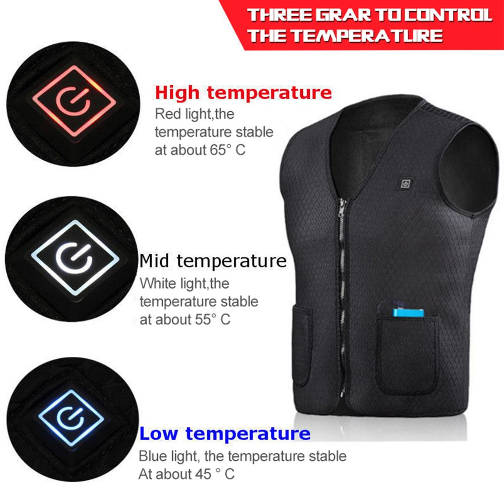 cheapest Motorcycle Heating Jacket Winter Flexible Electric Thermal Clothing Heater Vest Waistcoat For Sports cycling