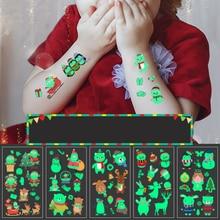 1 шт. светящиеся временные тату-наклейки вечерние, рождественские, карнавальные, вечерние, рождественские украшения JJJTZ110