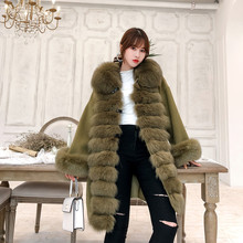 OFTBUY 2020 Real Fur Coat Winter Jacket Women Natural Fox Fu