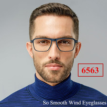 Denmark Style Lightweight Titanium TR90 Men's and Women's Glasses Rectangle Transparent Optical Eyeglasses with Clear Frame