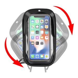 Image 3 - 6.4 inch Waterproof Bicycle Phone Holder Stand Motorcycle Handlebar Mount Bag Cases Universal Bike Scooter Cell Phone Bracket
