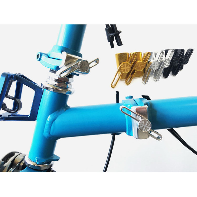 MOTORIZED Bicycle Bike HEAVY DUTY CNC U CLAMP GAS FRAME ADAPTER GOLDEN