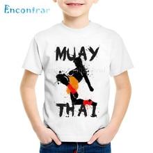 T-Shirts Kids Baby Clothes Hardcore Fighting Muay-Thai Tops Print Children Boys/girls