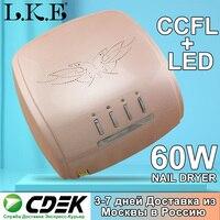 LKE 60W LED + CCFL Nail Dryer UV Led Nail Lamp Manicure Pedicure Salon For Quick Curing All Gel Nail Polish Nail Art Tools