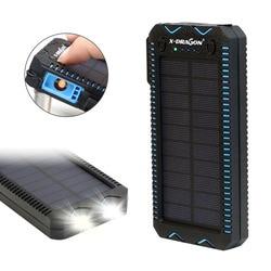 15000mAh powerbank na energię słoneczną z zapalniczką zasilana panelem słonecznym ładowarka do telefonów iPhone Xiaomi na zewnątrz w Powerbank od Telefony komórkowe i telekomunikacja na