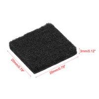 Almofadas de feltro adesivas da mobília de uxcell 20mm x 20mm quadrado 3mm preto grosso 36 pces