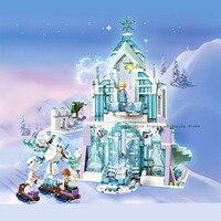 2020 последний создатель девочка друзья Принцесса Королева Эльза Ювелирная коробка строительные блоки кирпичи Legoinglys детские игрушки 41168 41169