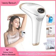 IPL depilacja Depilador laserowa maszyna do usuwania włosów wyświetlacz LCD stały depilator do okolic Bikini kobiety depilator usuwanie trądziku skóra