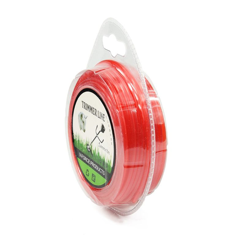 2.4mm×15m Grass Cut Strimmer Line Round Nylon Cord Wire String For Grass Trimmer 35ED