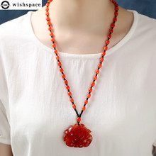 Wishspace restoring ancient ways is popular lotus pendant drop necklace fashion women sweater chain wholesale trendy ancient silver owl pendant sweater chain necklace for women